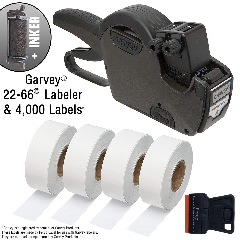 Garvey 22-66 Price & Date Marking Gun Starter Kit: Includes 22-66 Label Gun, 4,000 White Pricing Labels and Inker