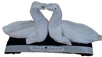 Piegare Gli Asciugamani A Forma Di Animale : Frotteebox spugna box regalo set cigni coppia di sposi in 1 x