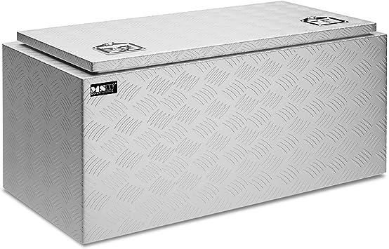 MSW Caja De Herramientas De Aluminio Cofre Estriado MSW-ATB-910 (Grosor del material: 1,3 mm, 91 x 44,5 x 43 cm, Volumen de 119 Litros): Amazon.es: Bricolaje y herramientas