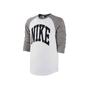 Nike Camiseta de Blindside Top Manga 3/4, todo el año, hombre, color Dunkelgrau Heidekraut/Schwarz/Weiß, tamaño XXL: Amazon.es: Deportes y aire libre