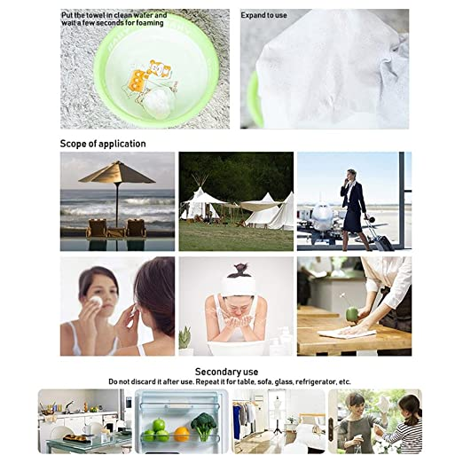 Leegoal 50 toallas desechables portátiles, toallas comprimidas para viajes, deportes, camping, hogar belleza, rosa: Amazon.es: Deportes y aire libre