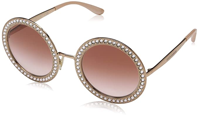 factory where can i buy 2019 professional Amazon.com: Dolce & Gabbana Women's Round Crystal Sunglasses ...