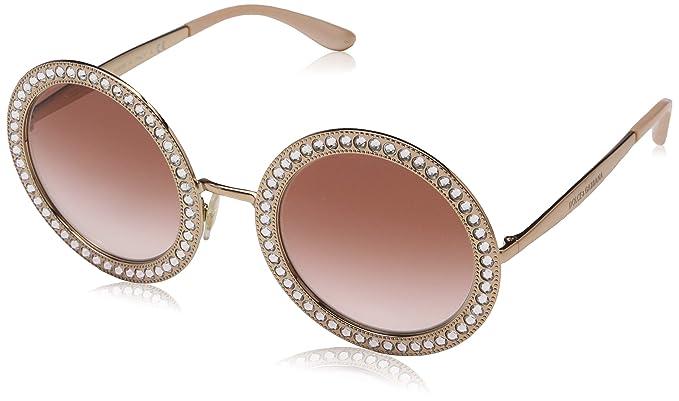 18a616b11cc Amazon.com  Dolce   Gabbana Women s Round Crystal Sunglasses