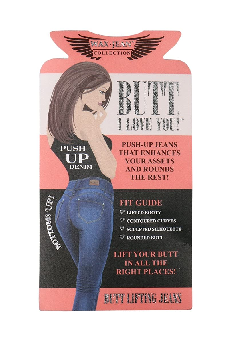 wax jean High Waisted Jeans for Women-Stretchy Denim Butt Lifting, Zip Fly, 3-Buttons Push-Up Jeans