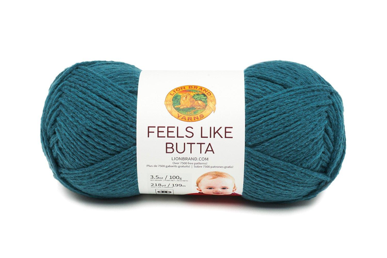 Lion Brand Yarn 215-106 Feels Like Butta Yarn Ice
