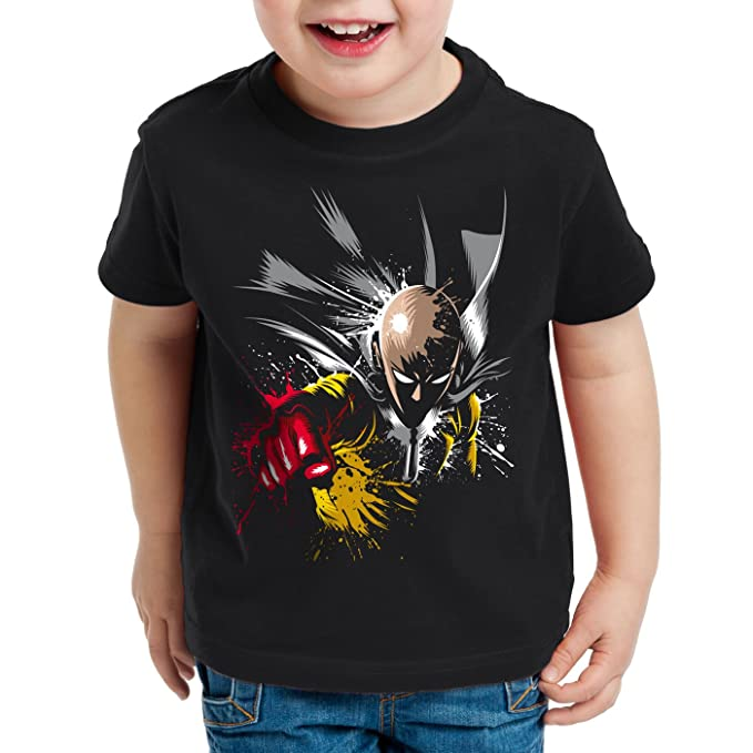 style3 Saitama Punch Camiseta para Niños T-Shirt One Anime Manga: Amazon.es: Ropa y accesorios