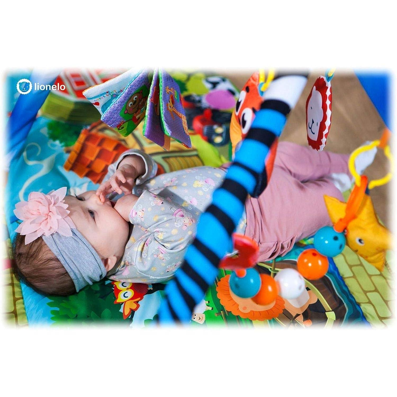 Lionelo Agnes 2in1 Spielmatte ab Geburt nutzbar Spielzeuge Erlebnismatte mit einem Haus