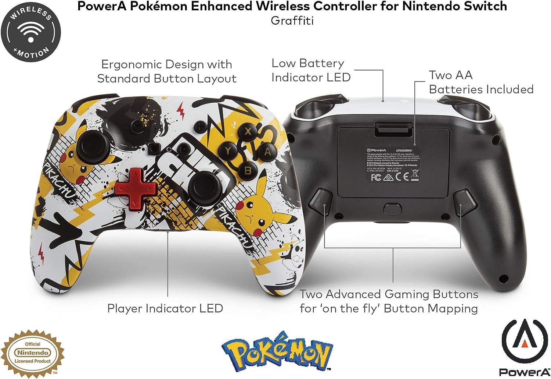 PowerA - Mando inalámbrico mejorado Pokémon Graffiti (Nintendo Switch): Amazon.es: Videojuegos
