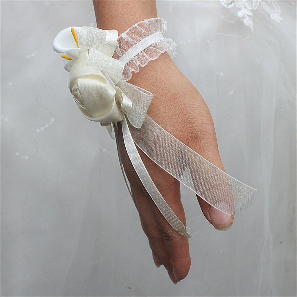 Fouriding gioiello da capelli per cerimonie bracciale da sposa matrimoni accessorio per vacanze fiore da polso decorazione da matrimonio da spiaggia perle