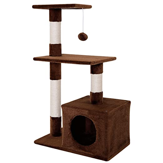 Dibea KB00251 Árbol Rascador para Gatos, Escalador, Altura 80 cm, Color Marrón: Amazon.es: Productos para mascotas