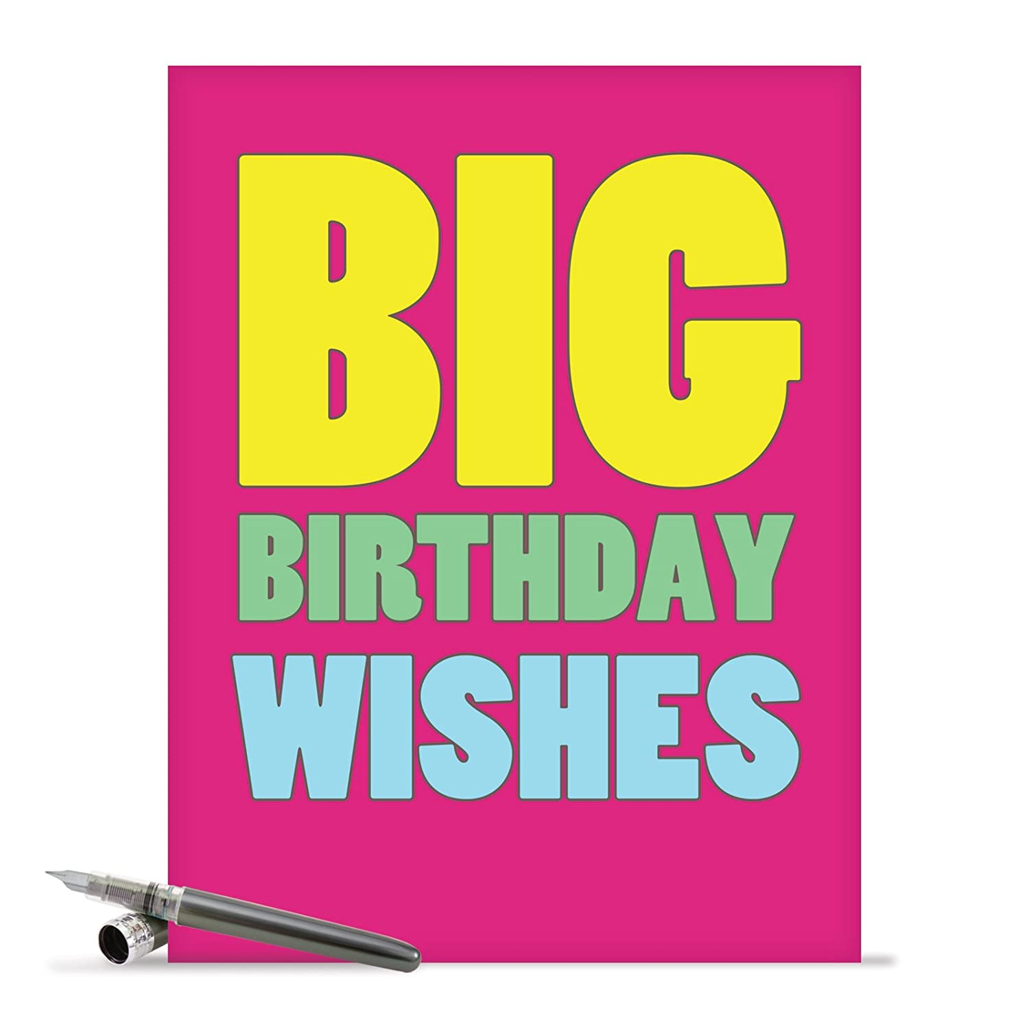 Amazon Supersized Happy Birthday Greeting Card With Envelope