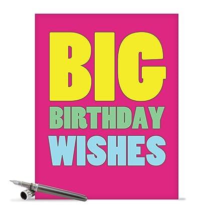 Amazon supersized happy birthday greeting card with envelope supersized happy birthday greeting card with envelope 85quot x 11quot hilarious m4hsunfo