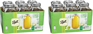 product image for Ball 6 Pieces 64 Oz Wide Mouth 1/2 Gal. Glass Jars Made in USA (2 Pack) Includes lids with bands
