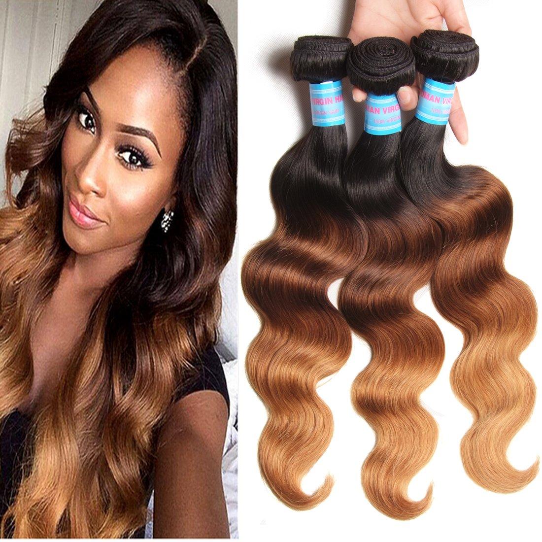 Amazon Jolia Hair Best Body Wave Ombre Brazilian Hair 3 Bundles