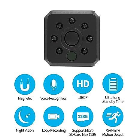 C-Xka Mini cámara espía WiFi Cámara oculta, cámara de seguridad inalámbrica HD 1080P