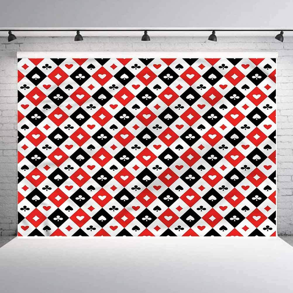 8x8FT Vinyl Backdrop Photographer,Casino,Rhombus Pattern Classical Background for Party Home Decor Outdoorsy Theme Shoot Props