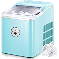 AICOOK Ice Maker Countertop, 28 lbs. Ice in 24 Hrs, 9 Ice Cubes Ready in 5 Minutes, Portable Ice Maker Machine 2L with…