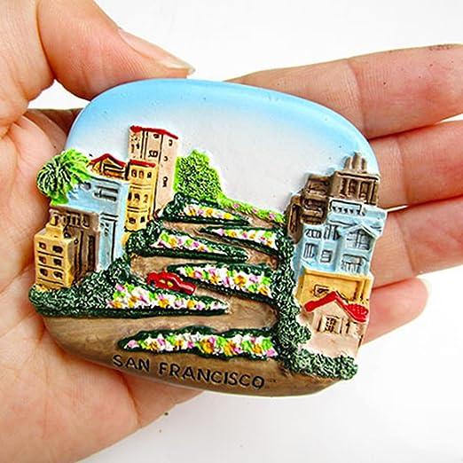 Pegatina para imanes de nevera, diseño de templo asiático, resina ...