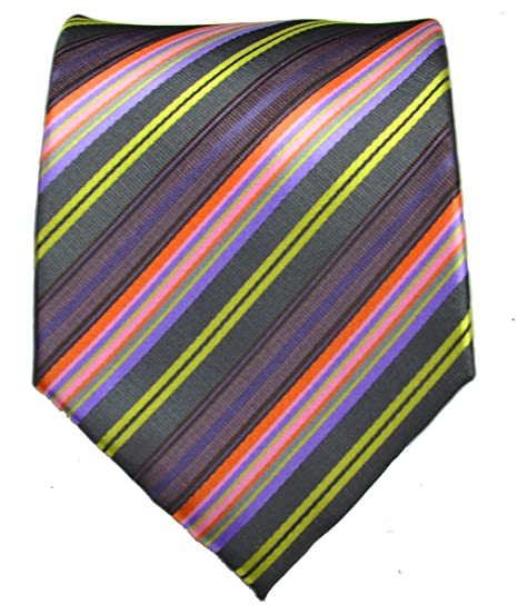 8d9378fd1b90 Image Unavailable. Image not available for. Color: Striped Necktie . Purple  ...