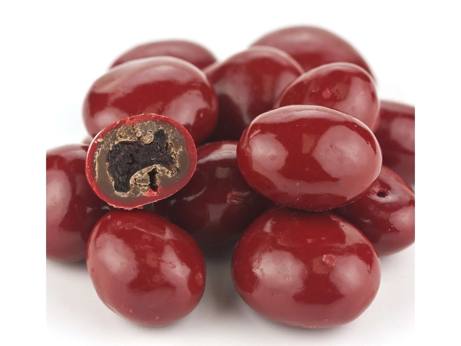 Red Chocolate Covered Dried Cherries 2 pounds by Beulah's Candyland