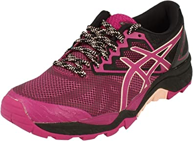 Asics Gel-Fujitrabuco 6, Zapatillas de Running para Mujer, Morado (Baton Rouge/Seashell Pink/Black 3217), 44.5 EU: Amazon.es: Zapatos y complementos