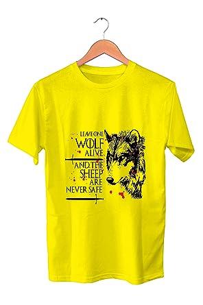SONSECAR Camiseta Juego DE Tronos. Arya Stark. Leave One Wolf ...