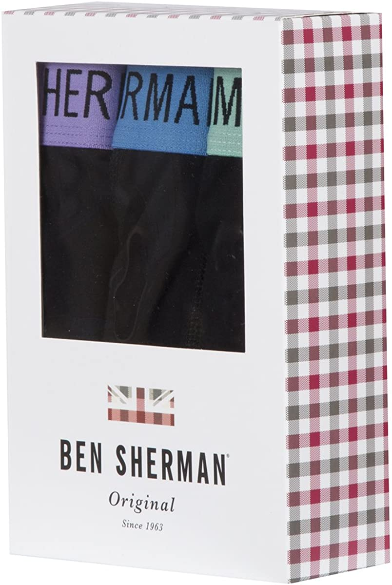 Ben Sherman Official UK Boxer Shorts Trunks Underwear 3 Pair Sizes S-XL Conner