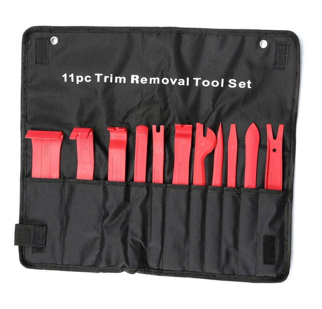 Hampous 11pc Auto Trim And Door Panel Removal Kit- For Car Audio, Dash Panel, Upholstery, Radio, Door, Window by Hampous (Image #1)