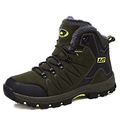 tqgold Scarpe da Trekking Uomo Donna Impermeabile Scarpe da Escursionismo  Arrampicata Scarpe da Neve Calde Comodo a9011636b52