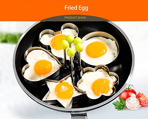 Amazon.com: makidar 5pcs Huevo Frito Molde huevo anillo ...