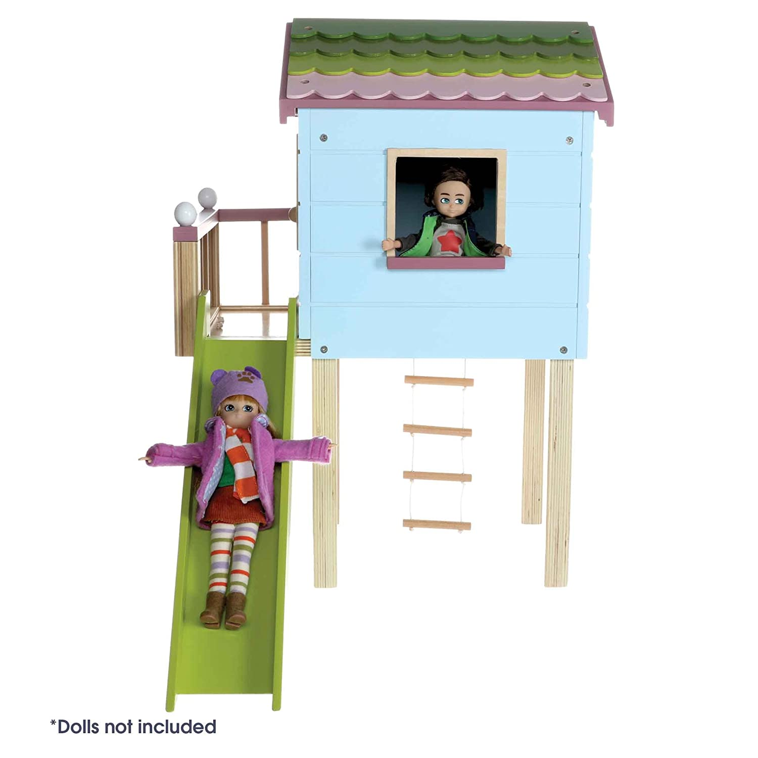 Playhouse Made with Wood and Child Friendly Colours to Collect Dolls Lottie Wooden Dollhouse Treehouse Best Fun Gift for empowering Kids Ages 3 /& up LT089