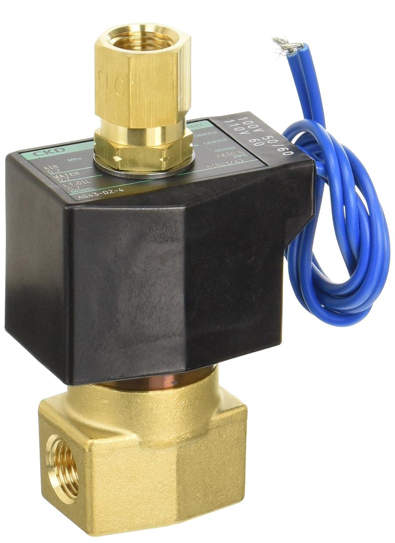 CKD 直動式3ポート弁 通電時開形 AG43-02-4-AC100V B00RF3IXYU