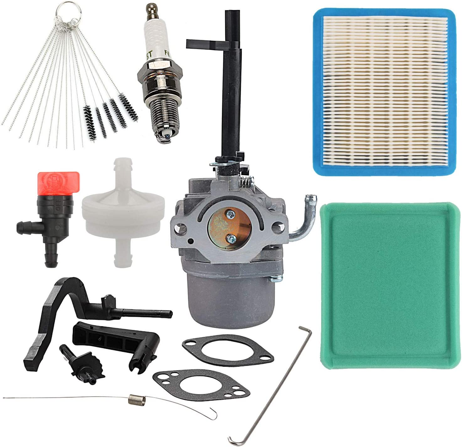Wellsking 591378 Carburetor with 491588S Air Filter Tune-Up Kit for BS Generator 697978 796321 696132 696133 796322 697351 699958 699966 698455 695918 694952 695919 695920 695328