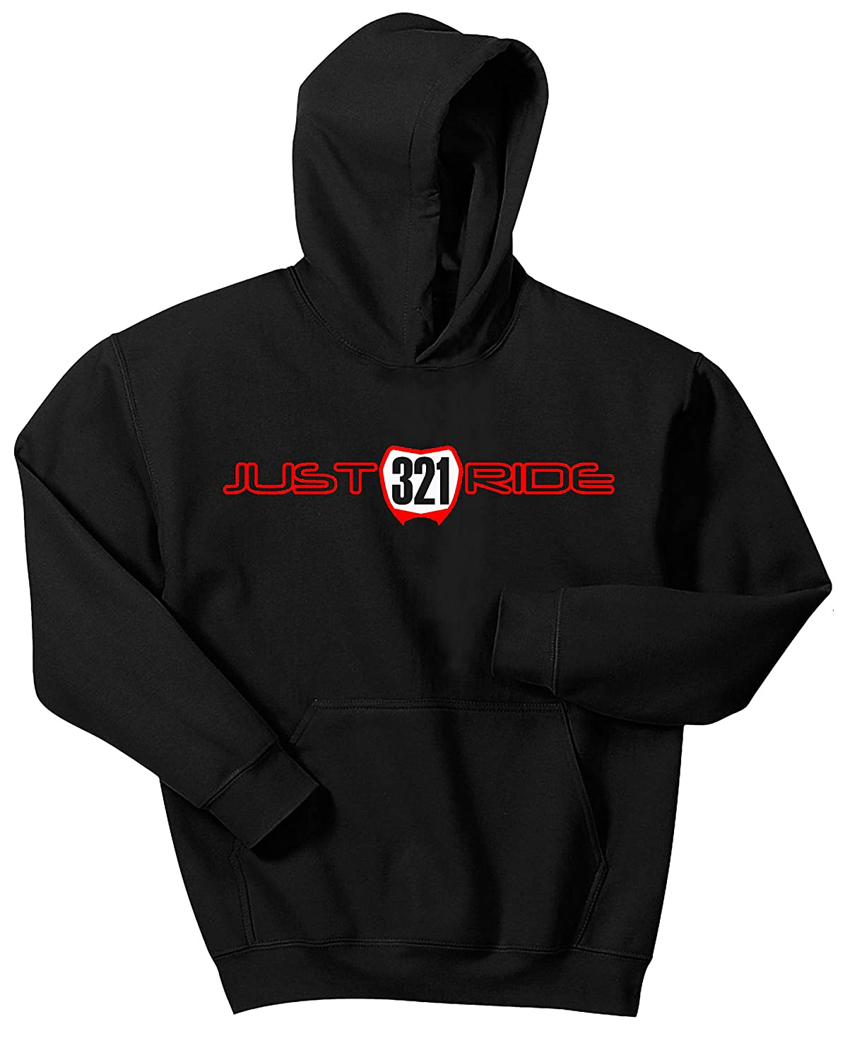 Just Ride Youth Hoodie Sweat Shirt Motocross Number Plate Custom Personalized