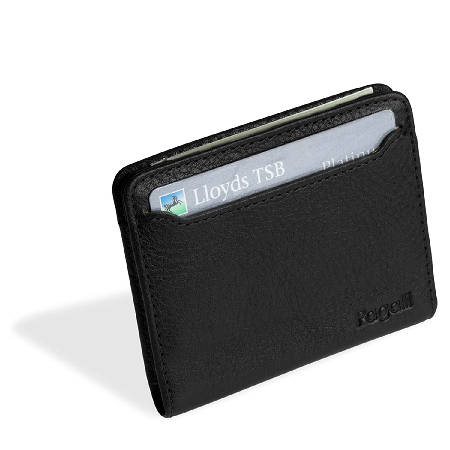 Pagalli Leonardo Mens Premium Handcrafted Leather RFID Blocking Slim Magnetic Wallet