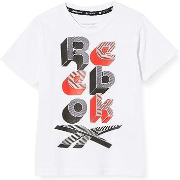Reebok Camiseta Lit Scrabble - Camiseta Niños: Amazon.es: Deportes y aire libre