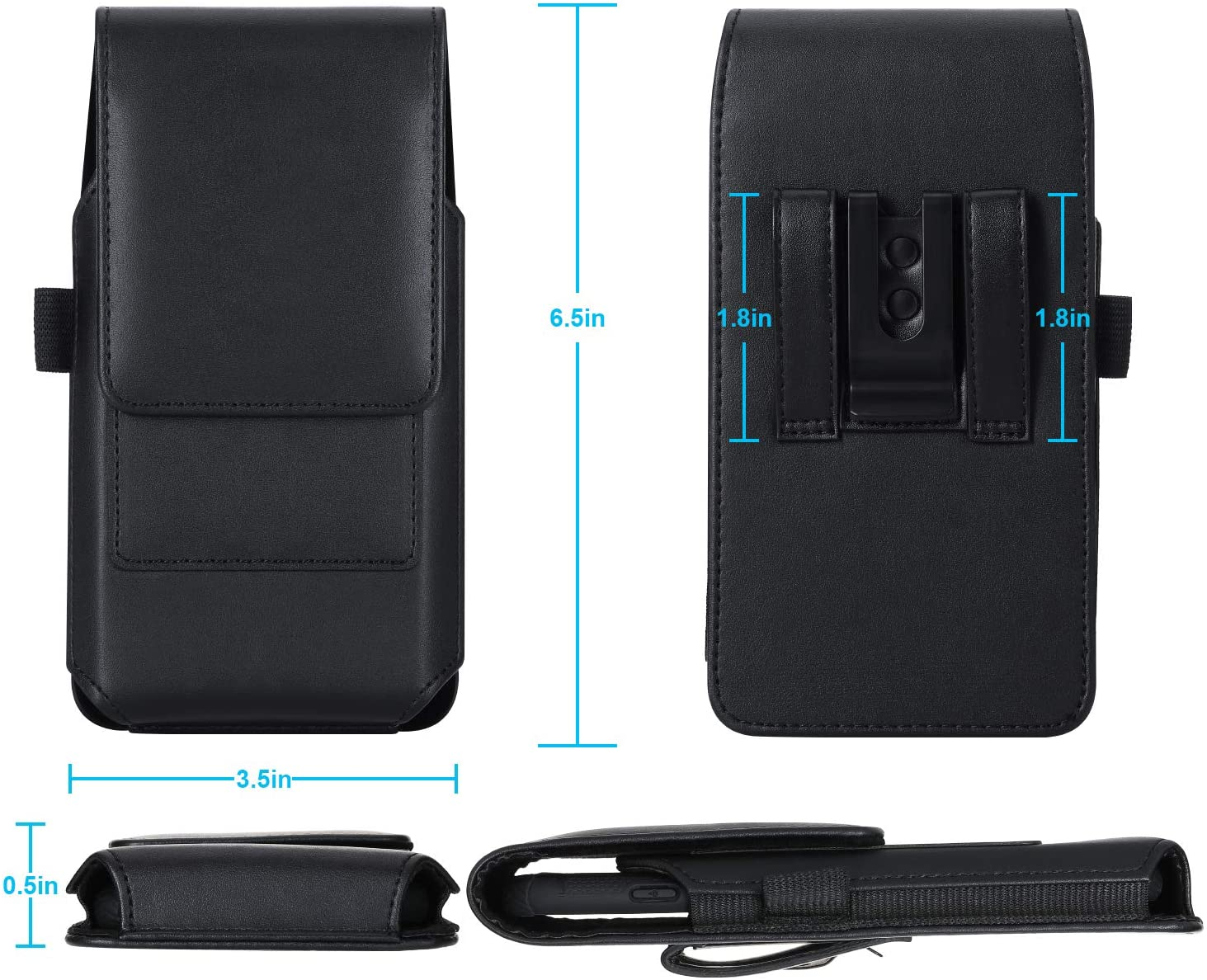 Mopaclle iPhone 12 Pro Max Holster Case Black iPhone Xs Max Belt Clip Case Fits w//Thin Case on Premium Leather Cell Phone Belt Pouch Holder for iPhone 11 Pro Max// 7 Plus// 8 Plus// 6s Plus