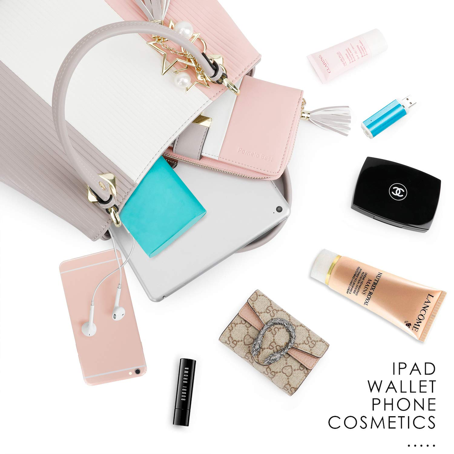 Wallets for Women with Multiple Card Slots and Fit Cellphone Blue