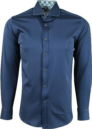 Dominic Stefano - Camisa de vestir de tela suave para hombre: Amazon.es: Ropa y accesorios