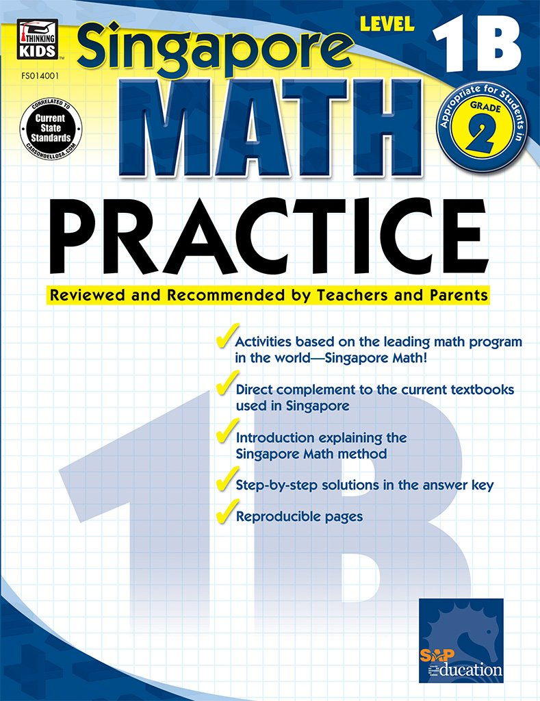 Amazon.com: Math Practice, Grade 2, level 1B (Singapore Math ...