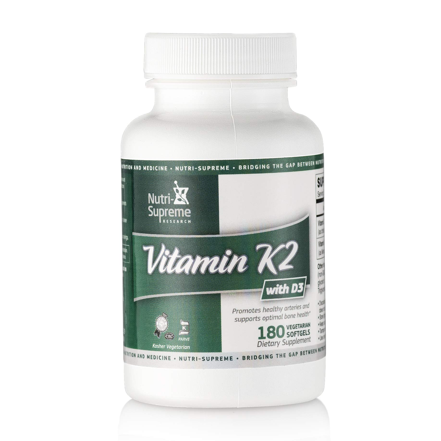 Nutri Supreme Research K2 with D3 180 Softgels