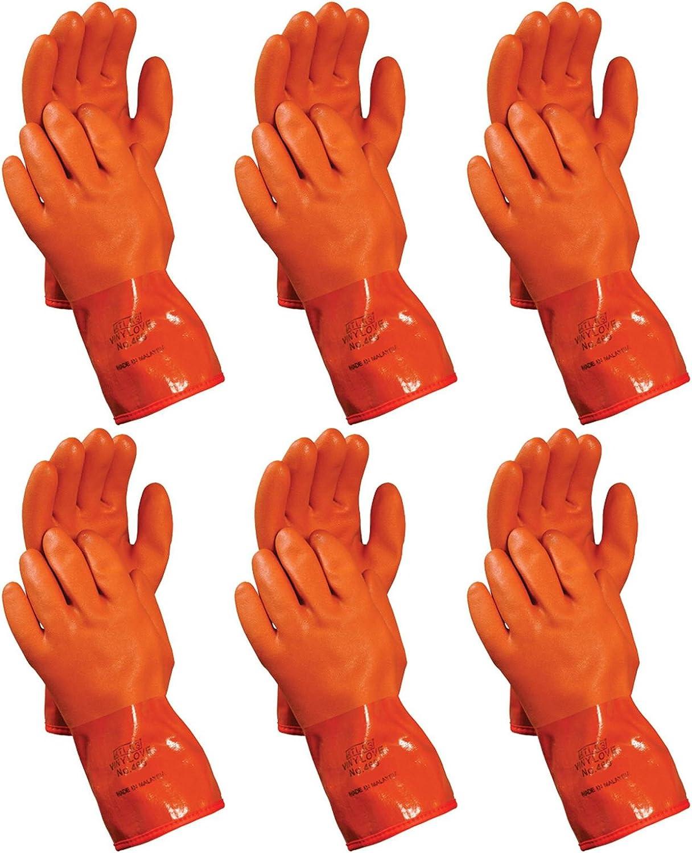 Atlas 460 Vinylove Cold Weather PVC Insulated Freezer Medium Gloves, 6-Pairs