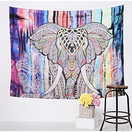 Amazon.com: 59x51 inch New Indian Elephant Tapestry Wall ...