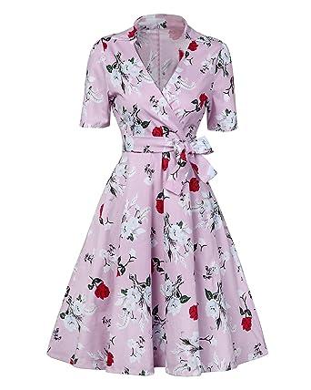 MISSMAO 1950s Retro Vestidos de Mujer Elegant Coctel Traje ...