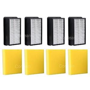 Corlean 4-Pack Pre-Motor Foam Filter and Post-Motor Filter Compatible 1008