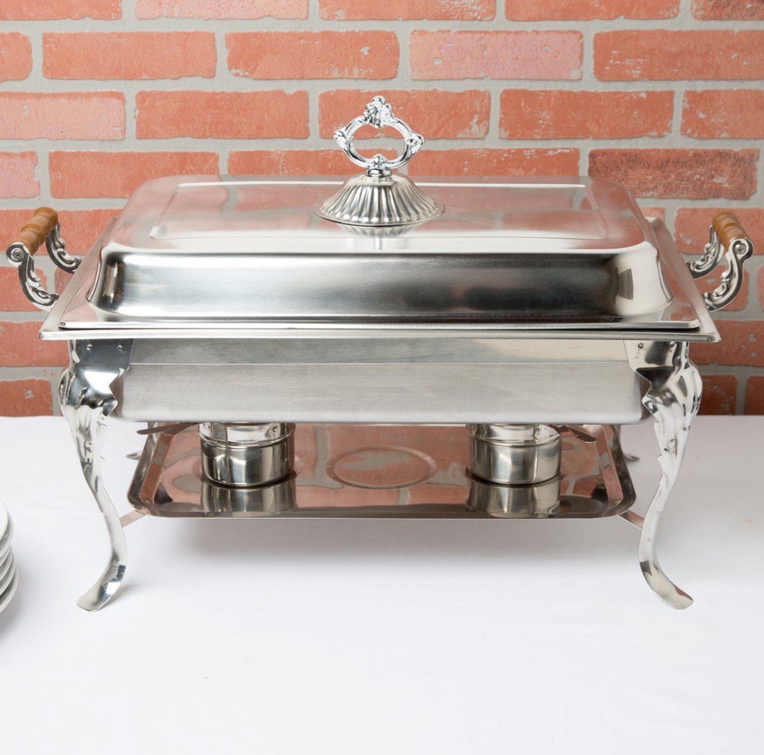 4PACK Classic Rectangle 8 Qt. Stainless Steel Full Size Chafing Dish by HEDY4LESS (Image #5)