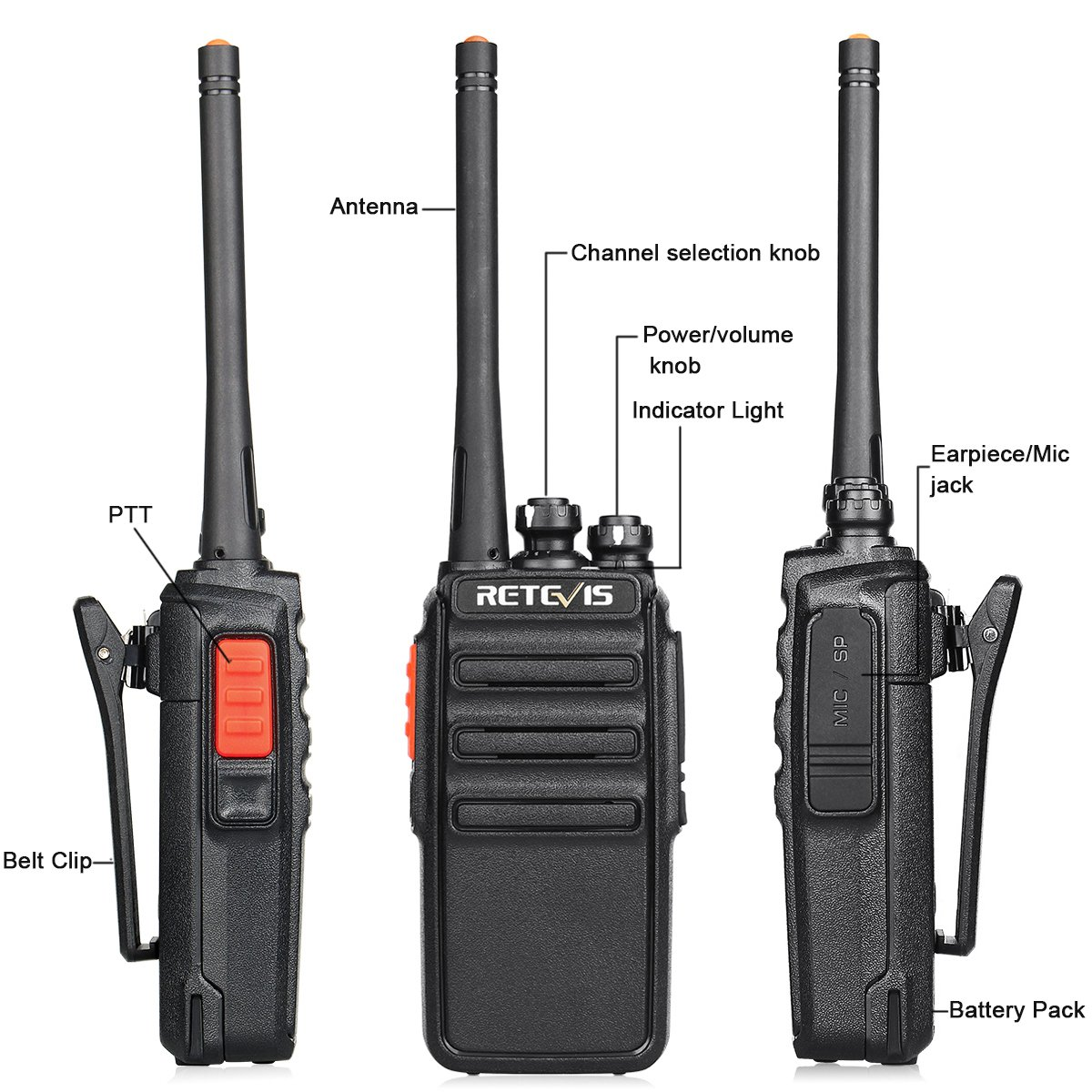 Retevis H-777S Two-Way Radios Rechargeable Long Range Super Clear Loud Audio Scan VOX Hand Free Walkie Talkies Cruise Ship Hiking 2 Way Radios 4 Pack