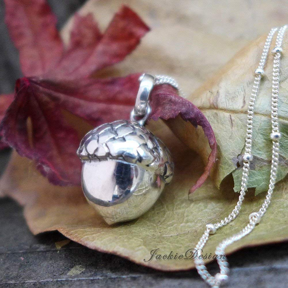 Charm 17 mm Diameter Sterling Silver Big Musical Chime Ball Pendant