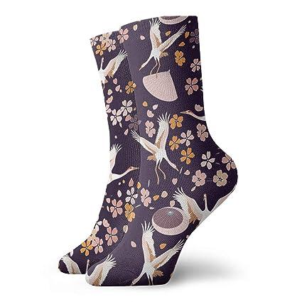 Sakura Pattern Compression Socks For Women Casual Fashion Crew Socks