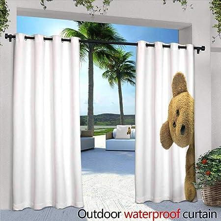 Lightly Cortina de privacidad para Exteriores para Pergola, Color Rosa, con diseño de Flores de Gerbera y Macro, aislada en Color Blanco, para Exteriores, para Patios y Patios: Amazon.es: Hogar